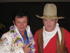 Mike and John Wayne