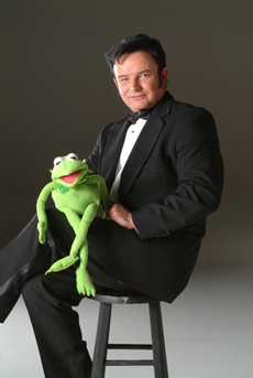 Mike with Kermit the Frog